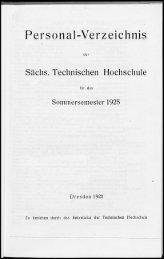 Personalverzeichnis Sommersemester 1925