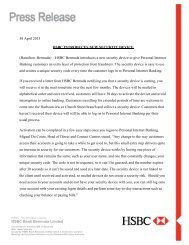 Security Device Request Form - HSBC Bermuda