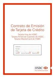 Contrato de Emisión de Tarjeta de Crédito - Hsbc