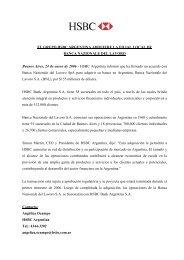 el grupo hsbc argentina adquiere la filial local