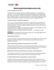 """PREGUNTAS FRECUENTES SOBRE LA COM """"A"""" 3602 - Hsbc"""