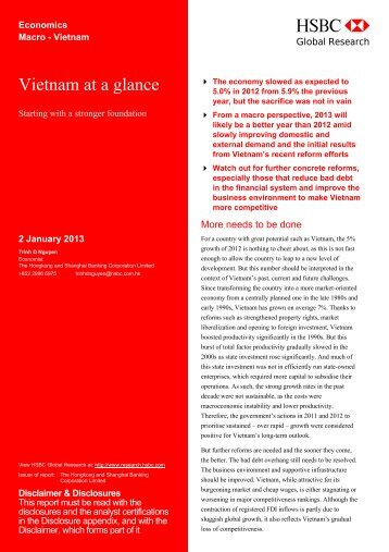 2013 : Vietnam at a glance - HSBC