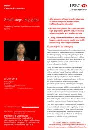 Small steps, big gains-Supporting Vietnam's performers ... - HSBC