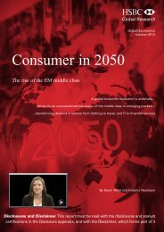 The Consumer in 2050-The rise of the EM middle class - HSBC