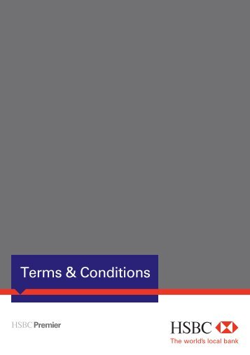 Terms & Conditions - HSBC