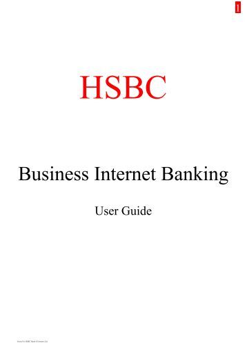 Business Internet Banking: Hsbc Co Uk Business Internet Banking