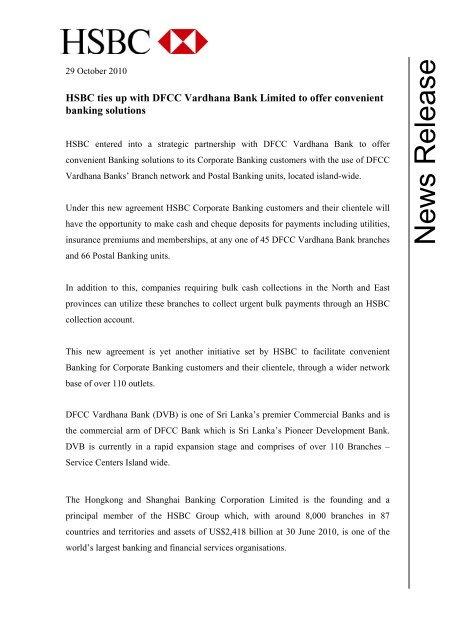News Release - HSBC Sri Lanka