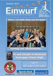 HSC-Magazin Oktober 2013 - HSC Haltern-Sythen