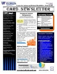CARD Newsletter - UF Health Science Center-Jacksonville ...