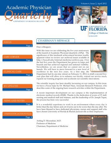 April 2012 Newsletter Cake:Layout 1.qxd - UF Health Science ...