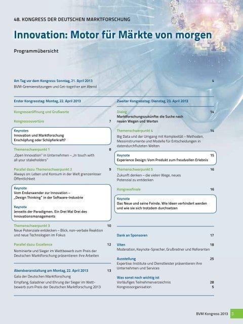 Innovation - Berufsverband Deutscher Markt