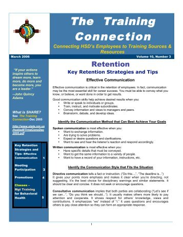 Vol. 10 No. 3 March 2006 - New Mexico Human Services Department