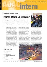 Volles Haus in Wetzlar - ADAC Ortsclub-Portal