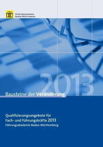 Qualifizierungsangebot für Fach- und Führungskräfte 2013