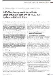 HGB-Bilanzierung von Altersteilzeitverpflichtungen nach IDW ... - Aon
