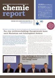 chemie report 10/2013 - Verband der Chemischen Industrie e.V.