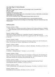 Curriculum Vitae + Publikationen
