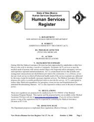 Assertive Community Treatment ( ACT ) - New Mexico Human ...