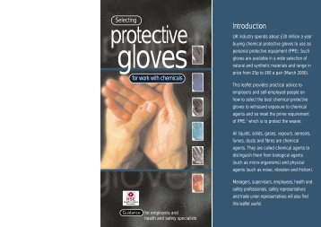 Selecting protective gloves for work with chemicals - HSE