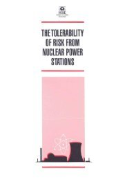 The tolerability of risk from nuclear power stations - HSE
