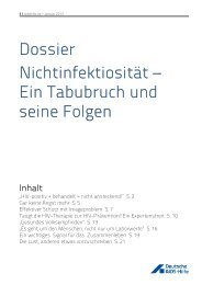 Dossier Nichtinfektiosität - Deutsche AIDS-Hilfe e.V.