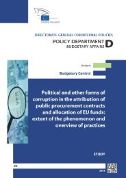 Political and other forms of corruption in the attribution of public ...