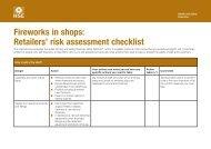 Fireworks in shops: Retailers' risk assessment checklist ... - HSE