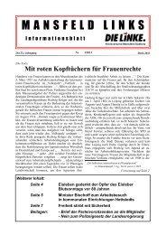 Ausgabe März 2013 - DIE LINKE. Kreisverband Mansfeld-Südharz