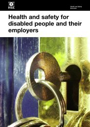 Health and safety for disabled people and their employers - HSE