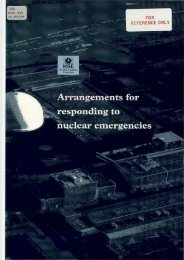 Arrangements for responding to nuclear emergencies - HSE