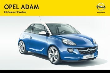 Infotainment manual - Adam, v.6 (rev ), de-DE - Opel