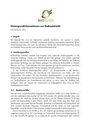 Hintergrundinformationen zur Radioaktivität - Bio Suisse