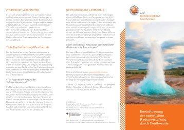 Flyer - Bundesverband Geothermie