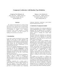 Component Architecture with Runtime Type Definition