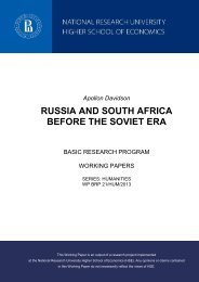 RUSSIA AND SOUTH AFRICA BEFORE THE SOVIET ERA