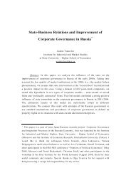 State-Business Relations and Improvement of ... - the ISNIE Extranet