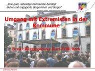 Umgang mit Extremisten in der Kommune - Wunsiedel