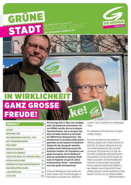 GRÜNE Stadt 2013/2 - Die Grünen Mödling