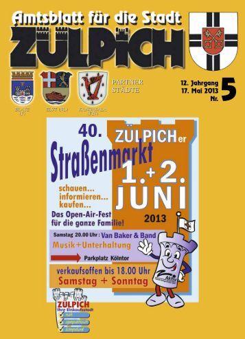 Amtsblatt0513.pdf - Stadt Zülpich