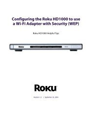 This document covers creating a shared folder on ... - Support - Roku