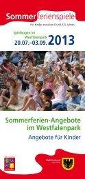 Programm 20.07.–03.09.2013 [pdf, 803 kB] - Stadt Dortmund