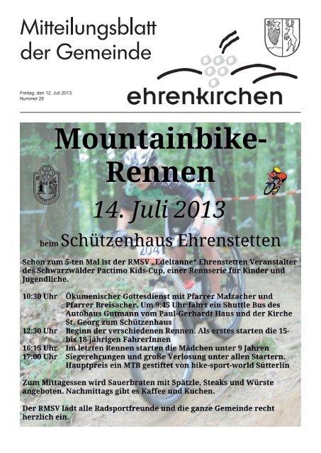 Freitag, den 12. Juli 2013 Nummer 28 - Gemeinde Ehrenkirchen