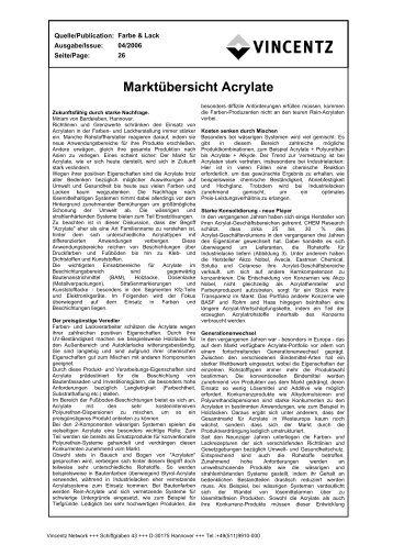Marktübersicht Acrylate - European-coatings.com