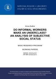 Working paper 'Do Informal Workers Make an Underclass? An ...