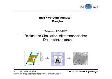 Design und Simulation mikromechanischer Drehratensensoren