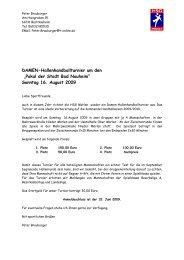 Pokal der Stadt Bad Nauheim - HSG Mörlen