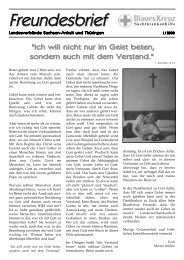 Gesund leben - Rückfall vorbeugen - Blaues Kreuz Deutschland