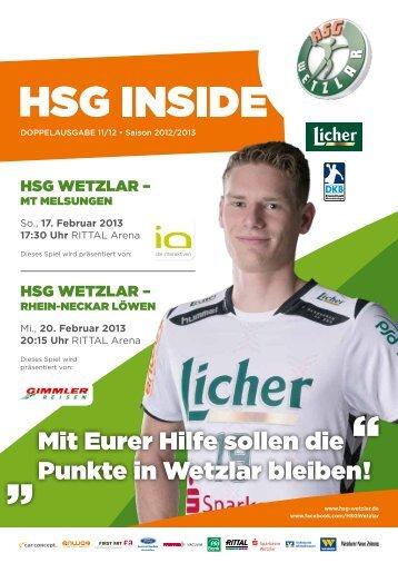 HSG Inside Ausgabe 2 - HSG Wetzlar