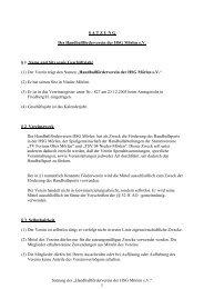 """Satzung des """"Handballförderverein der HSG Mörlen e.V."""" 1 ..."""