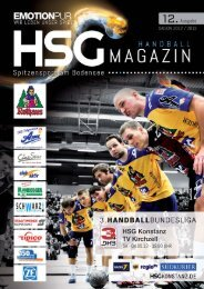 12. Ausgabe HSG - TV Kirchzell - HSG Konstanz